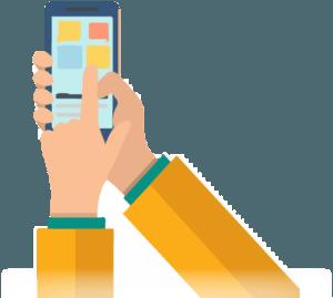 Artboard 1Landing smartphone