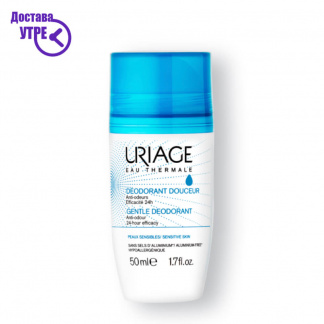 URIAGE  GENTLE DEODORANT, нежен деодорант ролон (без алуминиум), 50 ml