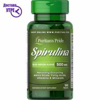 Puritan's Pride Q-SORB™ Co Q-10 100 mg спирулина, 100