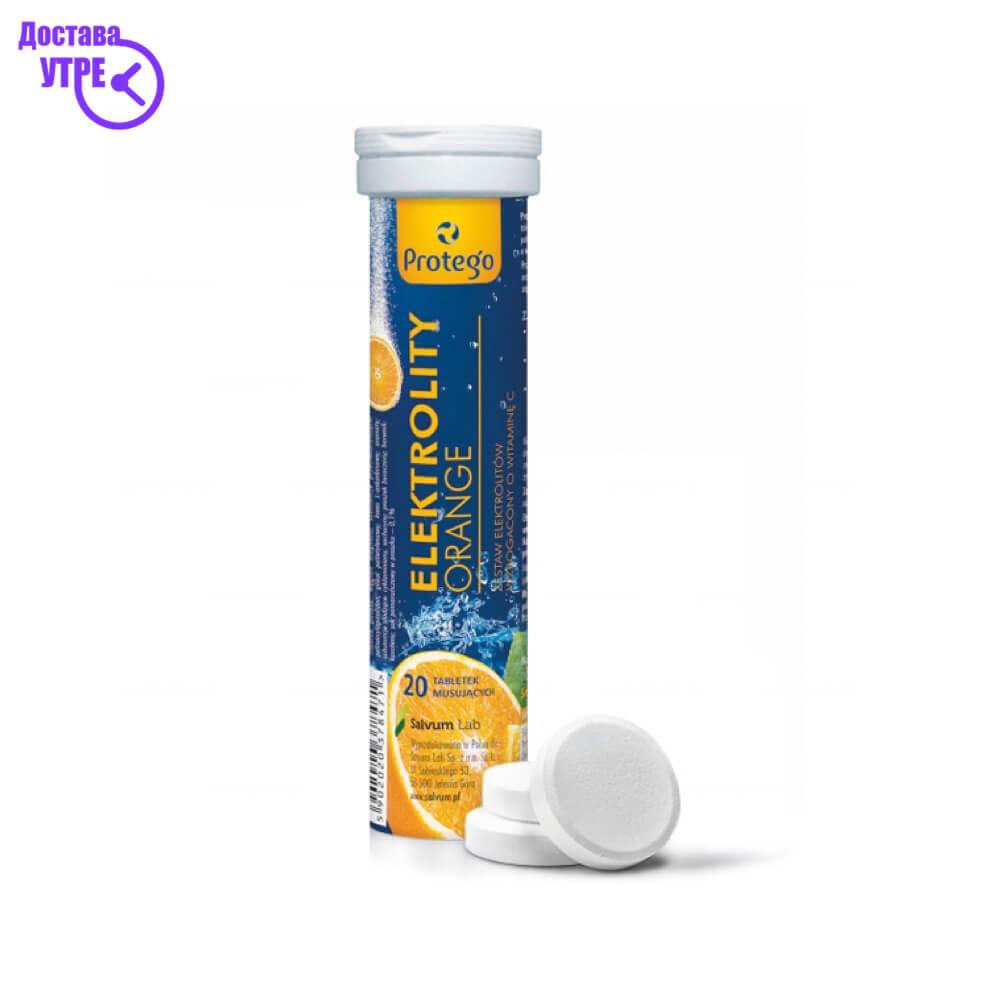PROTEGO ELECTROLYTES електролити со вкус на протокал шумливи таблети, 20
