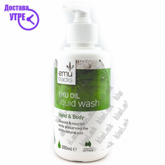 Emu Tracks Emu Oil Liquid Wash Hand & Body Гел за Туширање од Масло од Ему, 200мл