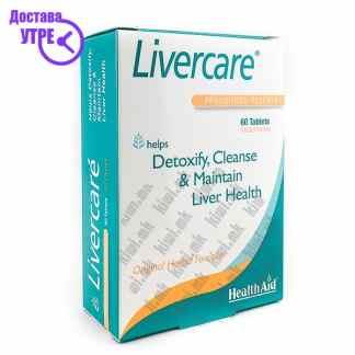 Health Aid Livercare Хербална Формула за Детокс и Одржување на Функцијата на Црниот Дроб таблети, 60