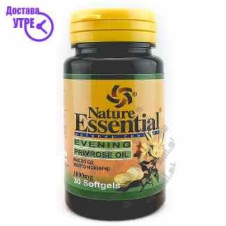 Nature Essential Evening Primrose Oil Масло од Жолто Ноќниче капсули, 30