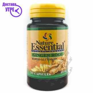 Nature Essential Ginger Root Корен од Ѓумбир капсули, 50