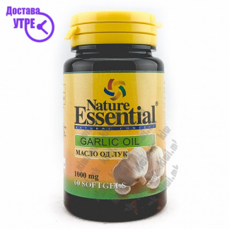 Nature Essential Garlic Oil Масло од Лук капсули, 60