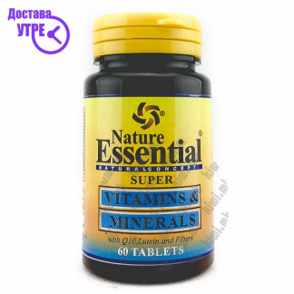 Nature Essential Super Vitamins & Minerals With Lutein, Q10 and Fibers таблети, 60