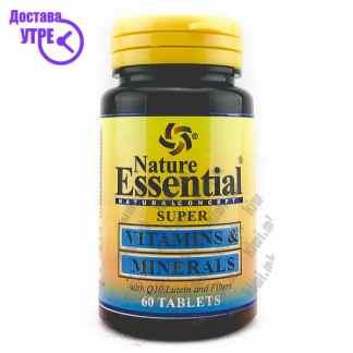 Nature Essential Super Vitamins & Minerals With Lutein, Q10 and Fibers таблети, 60
