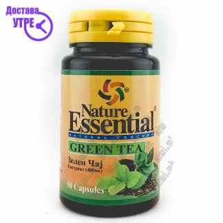 Nature Essential Green Tea Екстракт од Зелен Чај капсули, 50