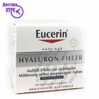 Eucerin Hyaluron-Filler Night Cream Ноќна Крема за Лице, 50мл