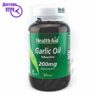 Health Aid Garlic Oil Масло од Лук капсули, 30