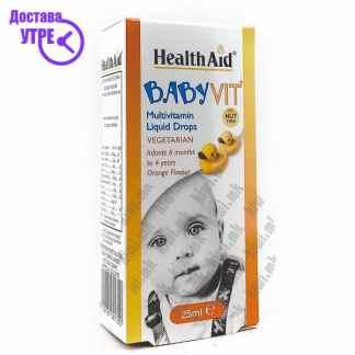 Health Aid Baby Vit Мултивитамински Капки за Бебиња 6 месеци-4 години, 25мл