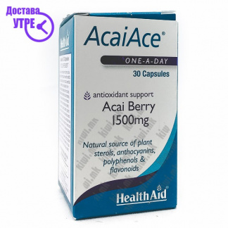 Health Aid AcaiAce Екстракт од Акаи капсули, 30