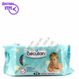 Becutan Baby Wipes Влажни Марамчиња, 72