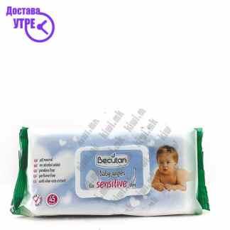Becutan Sensitive Baby Wipes Влажни Марамчиња, 45