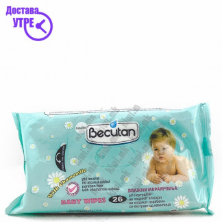 Becutan Baby Wipes with Chamomile Влажни Марамчиња со Kамилица, 26