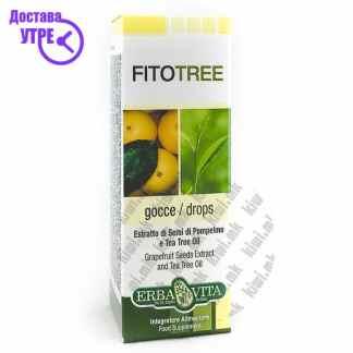 Erba Vita Fito Tree Екстракт од Семки од Грејпфрут и Масло од Чајно Дрво капки, 10мл