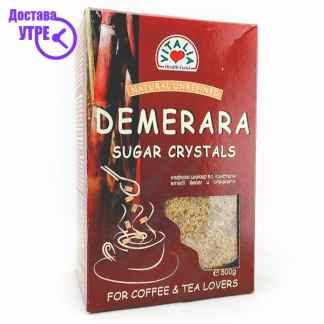 Vitalia Demerara Sugar Crystals Кафеав Шеќер во Кристали, 500г