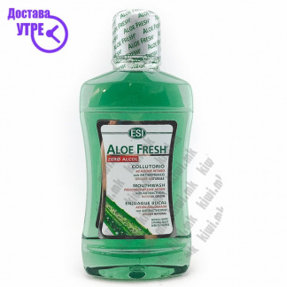 ESI Aloe Fresh No Alcohol Mouthwash Течност за Плакнење на Уста без Алкохол, 500мл