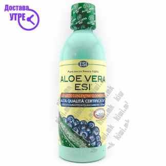 ESI Aloe Vera Blueberry Detox Juice Сок од Алое Вера и Боровинки, 1л