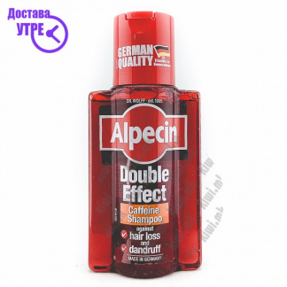 Alpecin Double Effect Caffeine Shampoo Шампон против Првут и Опаѓање на Коса, 200мл