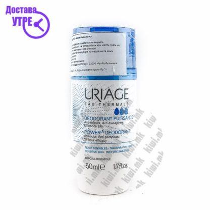 Uriage Power 3 Deodorant Анти-перспирант Рол-он, 50мл