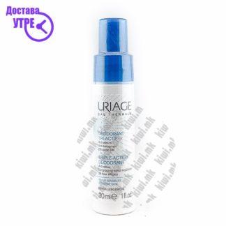 Uriage Triple Action Deodorant Анти-перспирант Спреј, 30мл