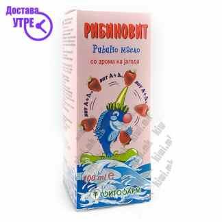 Рибиновит - Рибино Масло со Арома на Јагода, 100мл