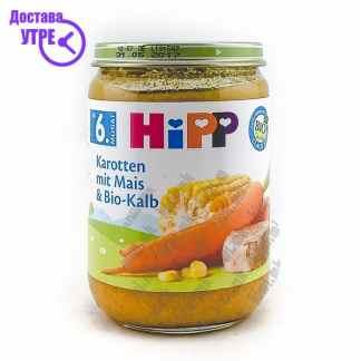 Hipp Морков со Пченка и Телешко, 190г