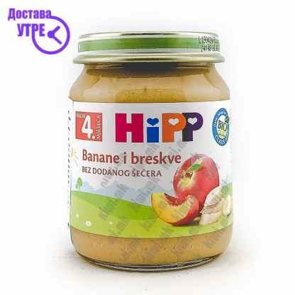 Hipp Банана и Праска, 125г