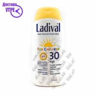 Ladival Sun Protection Milk Млеко за Заштита од Сонце со СПФ 30 за Деца, 200мл