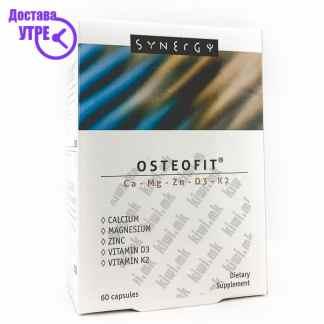 Остеофит Калциум+Магнезиум+Цинк+Витамин Д3+Витамин К2 капсули, 60