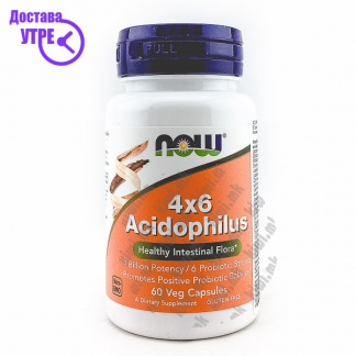 Now Acidophilus 4x6 капсули, 60